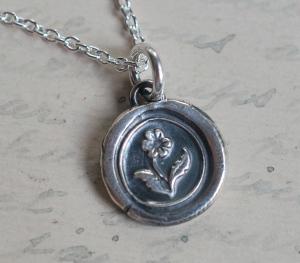 victorian trinket flower wax seal
